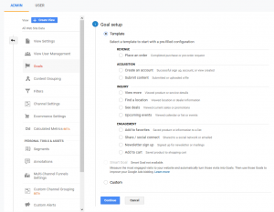 Google Analytics Goal Set-up